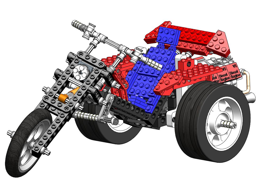 SolidWorks LEGO Trike – Again