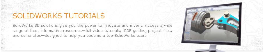 SolidWorks Tutorials – New SolidWorks Resources