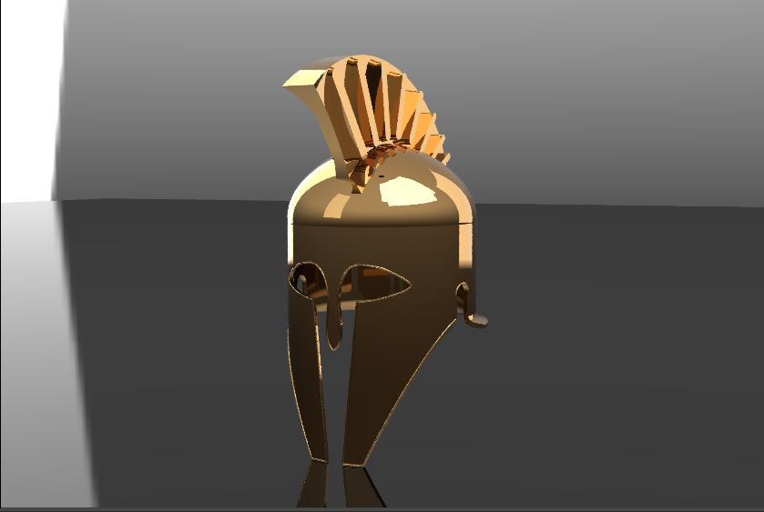 Spartan Hoplite Helmet in SolidWorks