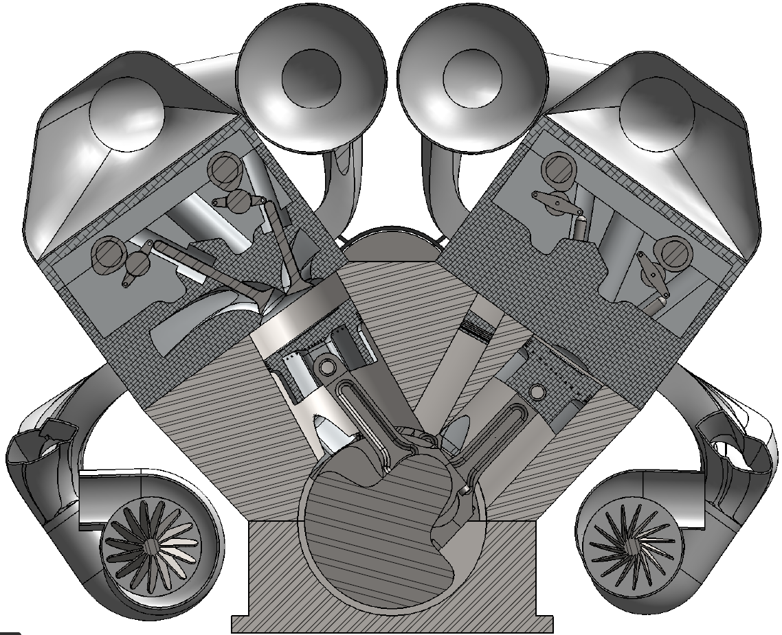 W16 engine section