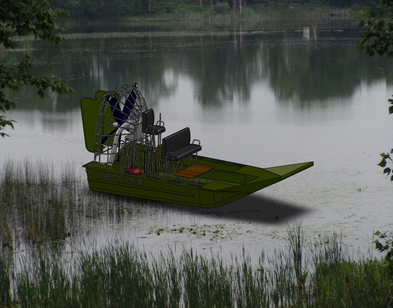 SolidWorks Air Boat Model, FEA Results, Video and Presentation