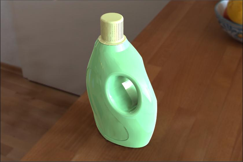 Detergent Bottle in SolidWorks