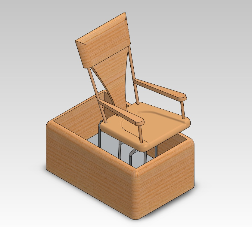 Mechanical Rocking Chair in SolidWorks