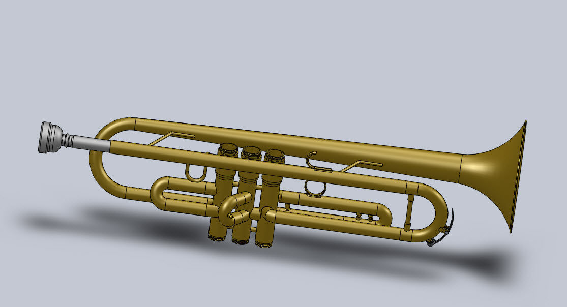 Main Trumpet Body With Slides