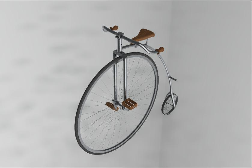 High-Wheel Bicycle in SolidWorks