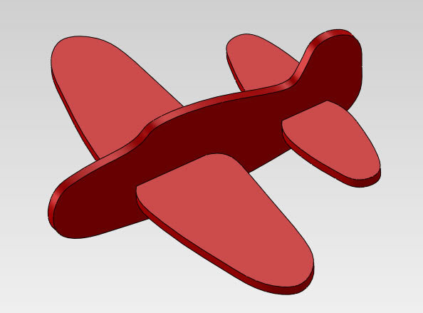 SolidWorks foam air  plane