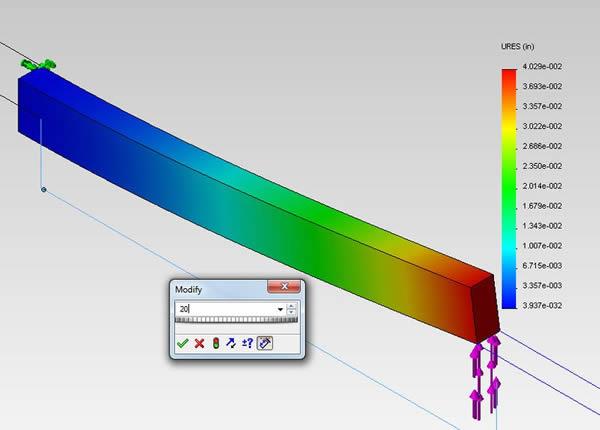 Cantilever beam length 20
