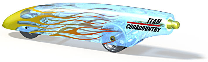 SolidWorks Tutorial: CO2 Dragster from Team CudaCountry