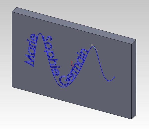 SolidWorks Sketch Text on Spline