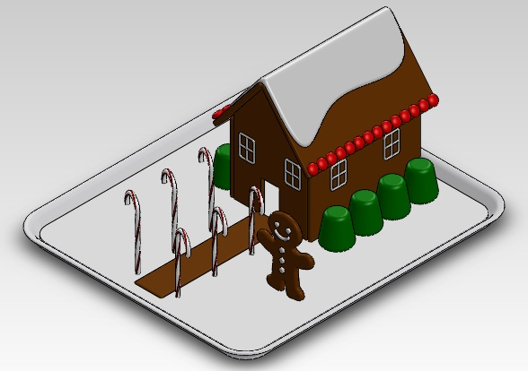 Gingerbread House in SolidWorks