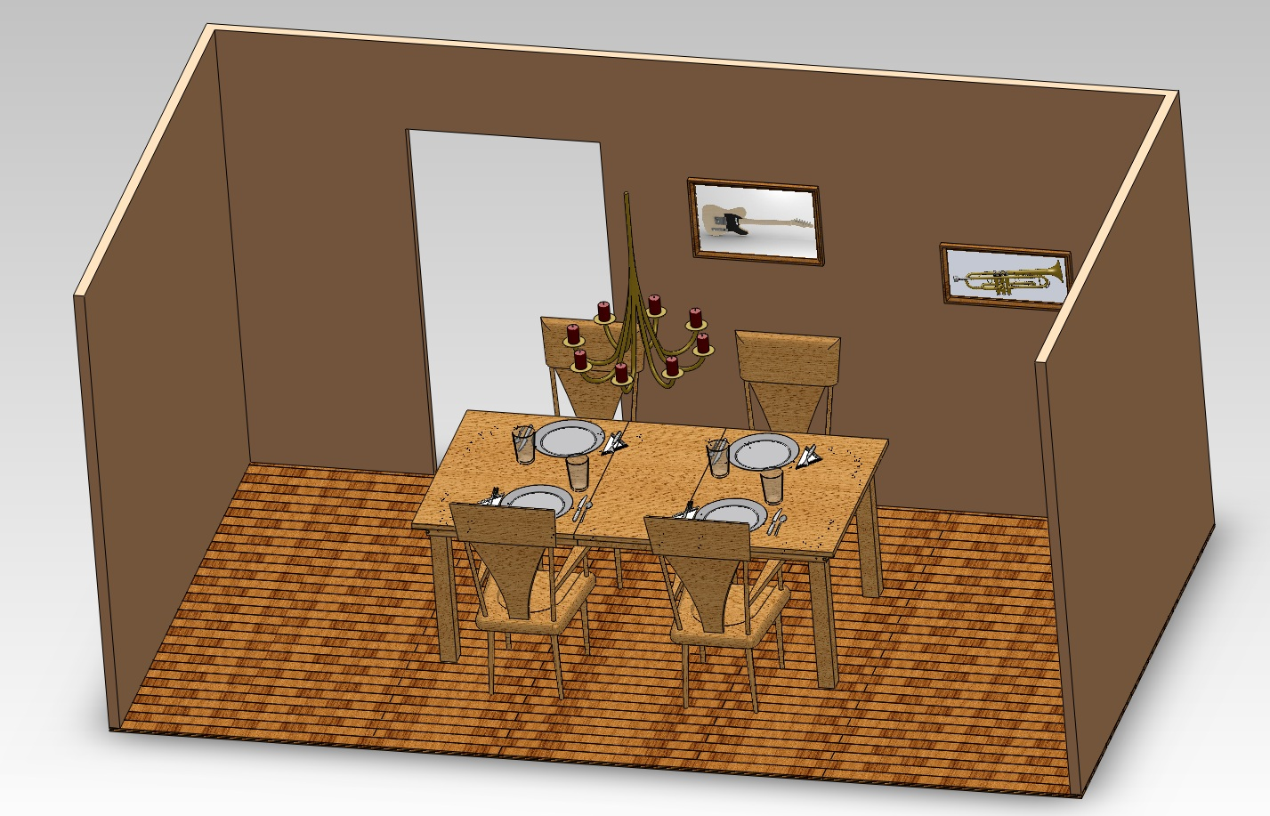 Dining Room in SolidWorks