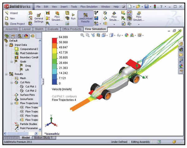 SolidWorks Flow Simulation F1inSchools Trajectory Design Change