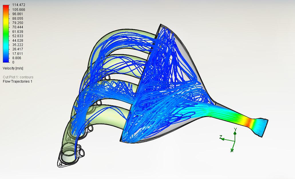 CFD Flow Analysis Tutorial on Intake Manifold
