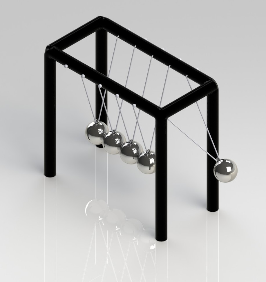 Newton's Cradle with SolidWorks Motion