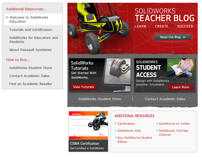 SolidWorks Education Facebook Page for Students and Educators