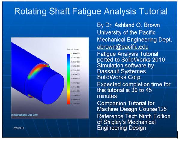 FEA SolidWorks Tutorial Ash  Brown 1