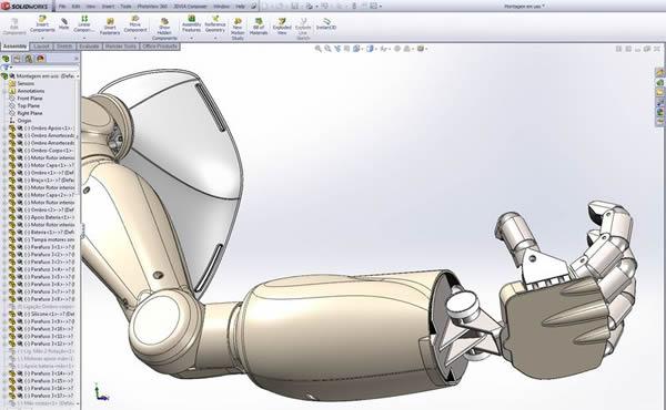 Sqedio Student Design Contest with SolidWorks Robot Arm 2