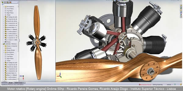 Sqedio Student Design Contest with SolidWorks rotary engine