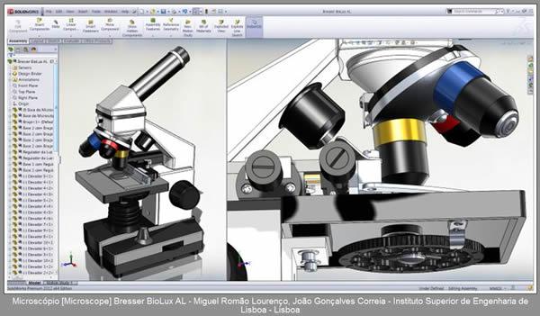 Sqedio Student Design Contest with SolidWorks Microscope