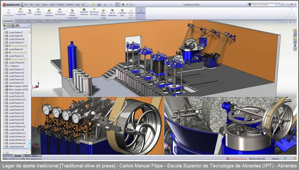 Sqedio Student Design Contest with SolidWorks Oliver Oil Plant 2