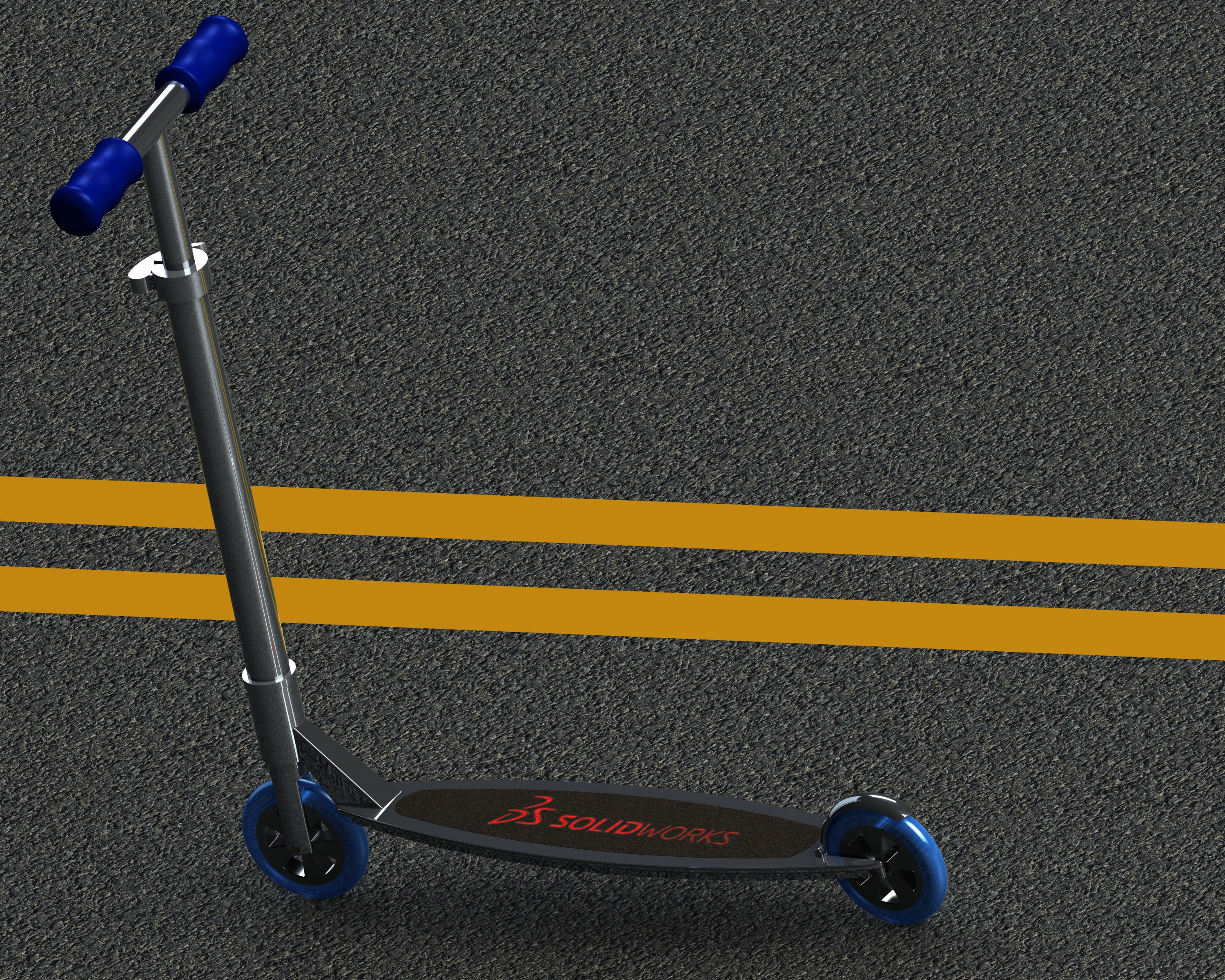 Scooter in SolidWorks