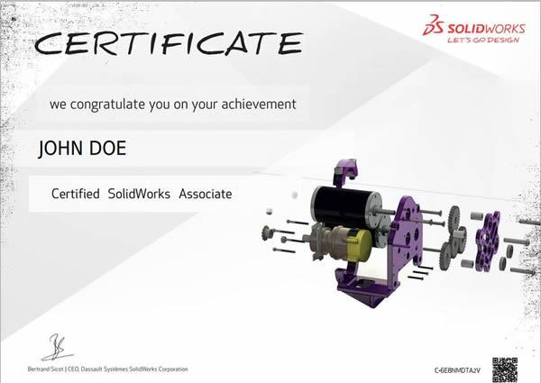 CSWA certificate format