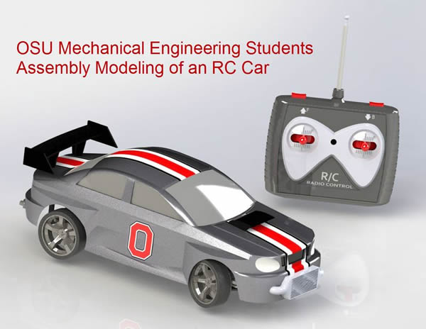 OSU Car and Controller in SolidWorks