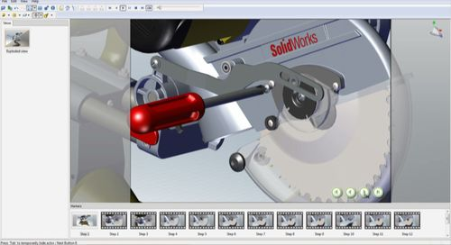SolidWorks_Composer_Miter_Saw_Maintenance