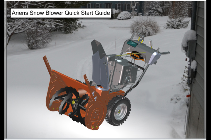 Ariens Snow Blower Quick Start Guide in SolidWorks Composer