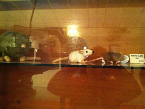 Paris Sewer Museum Gift Shop Rat Toys