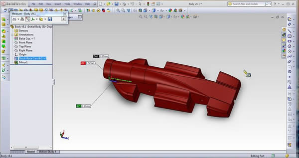 F1 in Schools Greece SolidWorks Model