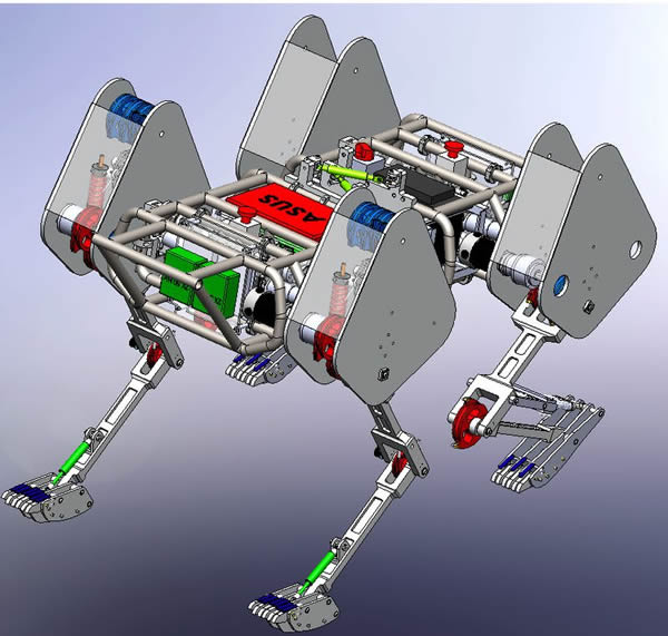 Sabertooth robot wpi in solidworks