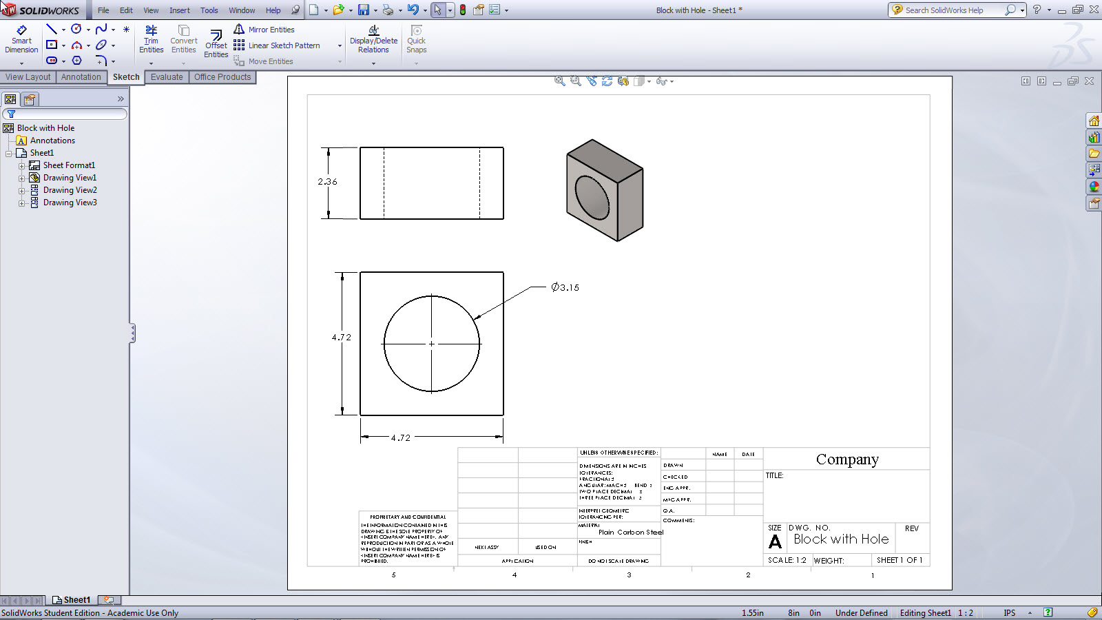 Transition to solidworks from creo or proe drawing documents for Solidworks drawing template tutorial
