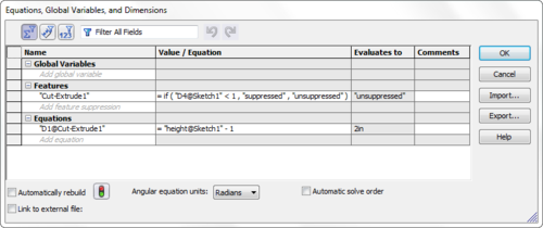 Equation Manager