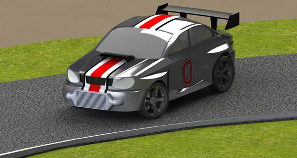Ohio State car render