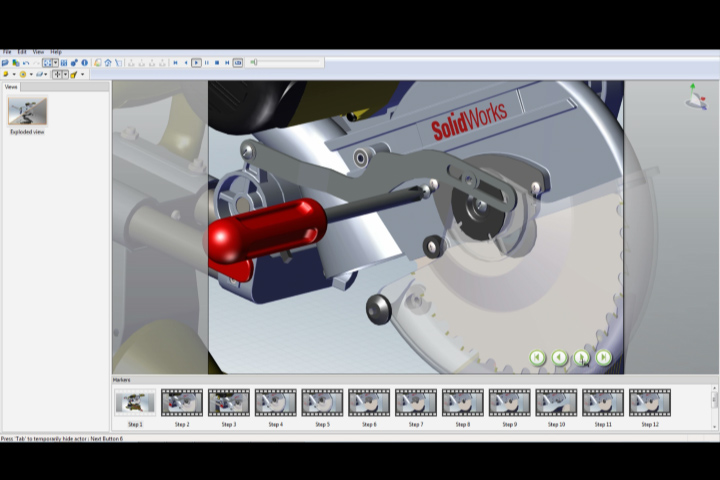 Creating a Maintenance Video for a Miter Saw using SolidWorks Composer