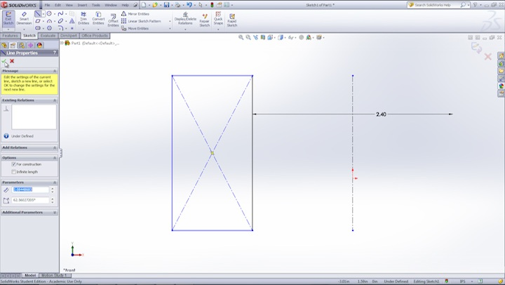 The Basics on SolidWorks Sketch Lines