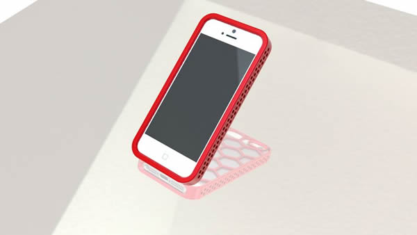 A render of the iPhone 5 with a plastic case created in SolidWorks