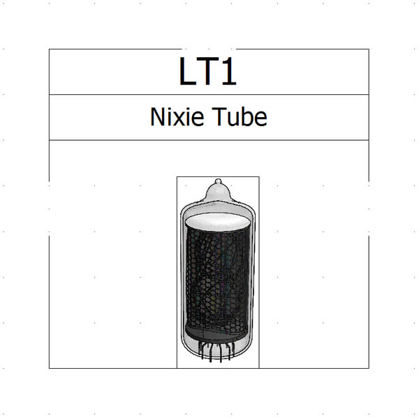 Both the symbol and 3D component of this Nixie tube were created in SolidWorks Electrical 2D and 3D