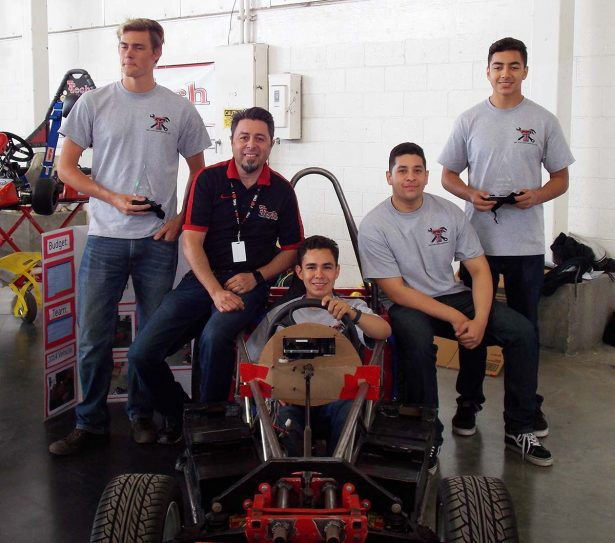 Ed Hernandez and his students