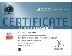 CSWA Academic Certificate