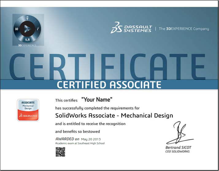 Solidworks Cad Certification A Final Exam Provides A Life