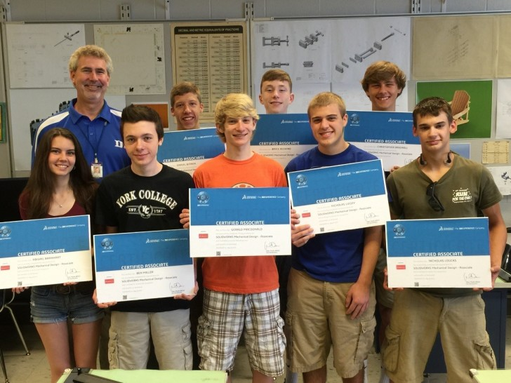 Dallastown Area HS Students Achieve SOLIDWORKS Certification and Job Ready Skills