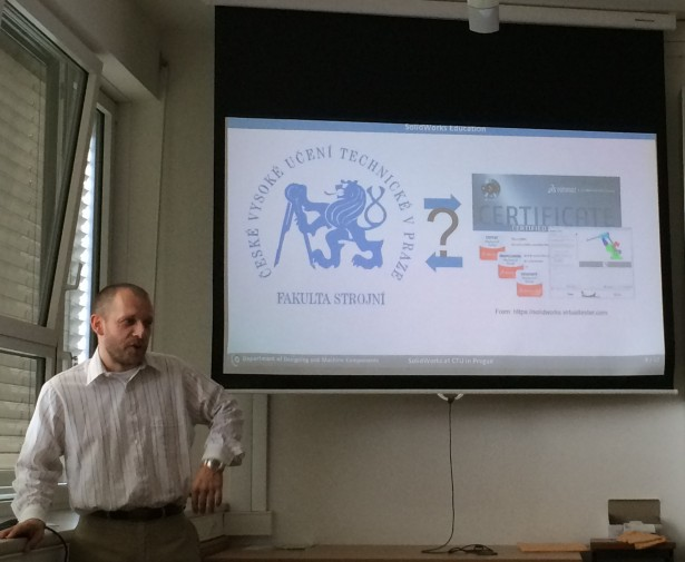 CTU Prague Persents to SolidWorks