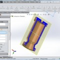 Combustian Chamber Assembly in SolidWorks