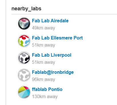 FabLabs near ManchesterUK