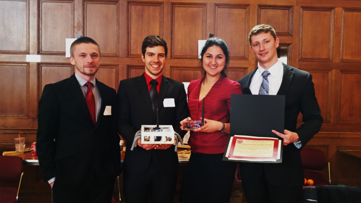 Student Hexapod Design wins WPI ME Provost Award