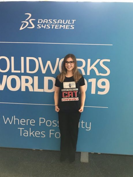 Danielle at SOLIDWORKS World 2019