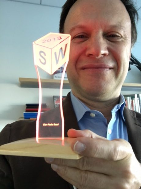 SOLIDWORKS CEO Gian Paolo Bassi, content with his Cubie