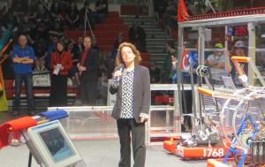 Marie Presents at WPI FRC Event
